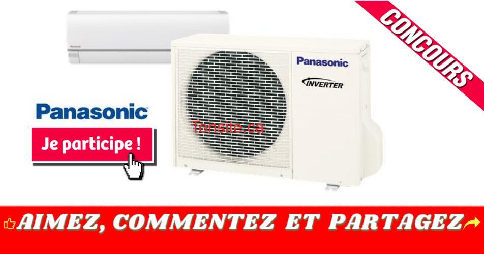 panasonic thermopompe concours - Participez et gagnez une thermopompe Panasonic incluant l'installation d'une valeur de 5000$!