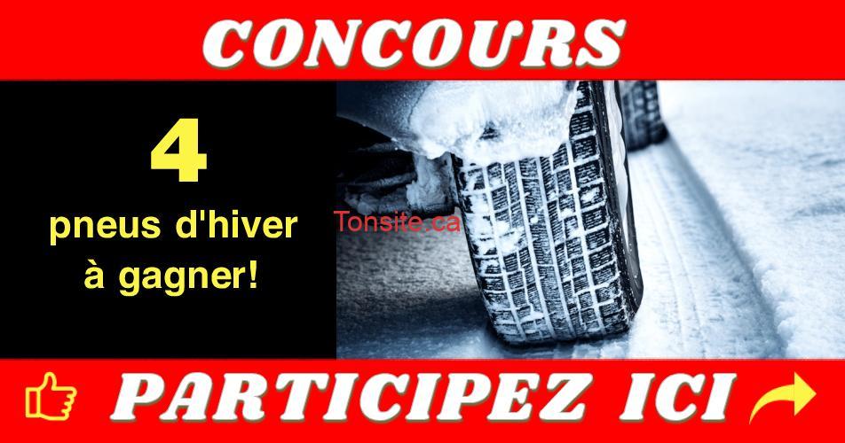 pneus hiver concours - Participez et gagnez 4 pneus d'hiver TOYO!