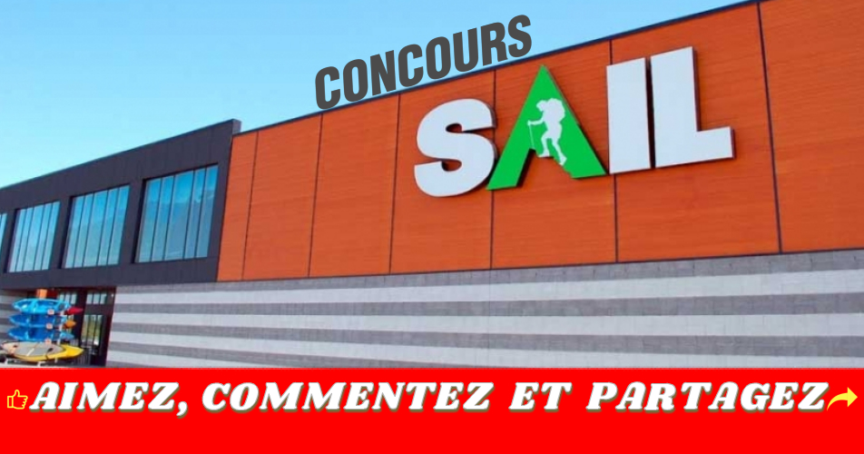 sail concours - Gagnez 1 des 3 cartes-cadeaux SAIL de 500 $