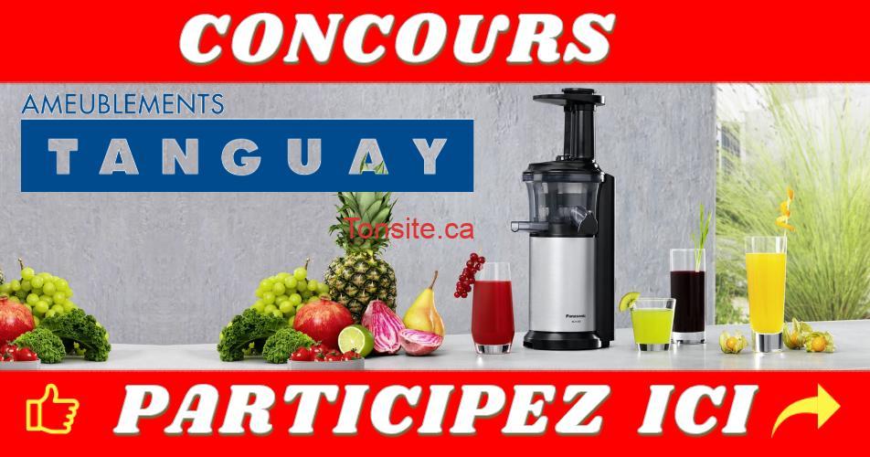 tanguay concours oct 2019 - Concours Tanguay: Gagnez une centrifugeuse à jus de marque Panasonic