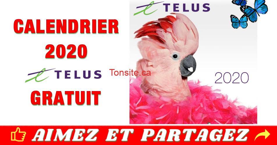 telus2020 gratuit - Calendrier Telus 2020 GRATUIT!