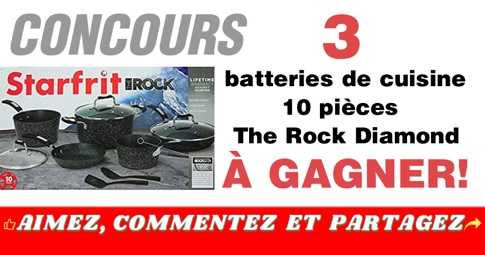 therock diamond concours - 3 Batteries de cuisine 10 pièces Starfrit The Rock à gagner!