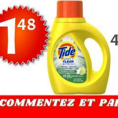 tide simply 148 499 1 240x240 - Détergent à lessive Tide Simply Clean & Fresh à 1,48$ au lieu de 4,99$