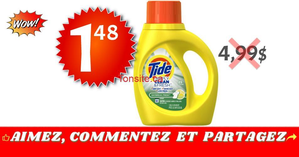 tide simply 148 499 1 - Détergent à lessive Tide Simply Clean & Fresh à 1,48$ au lieu de 4,99$