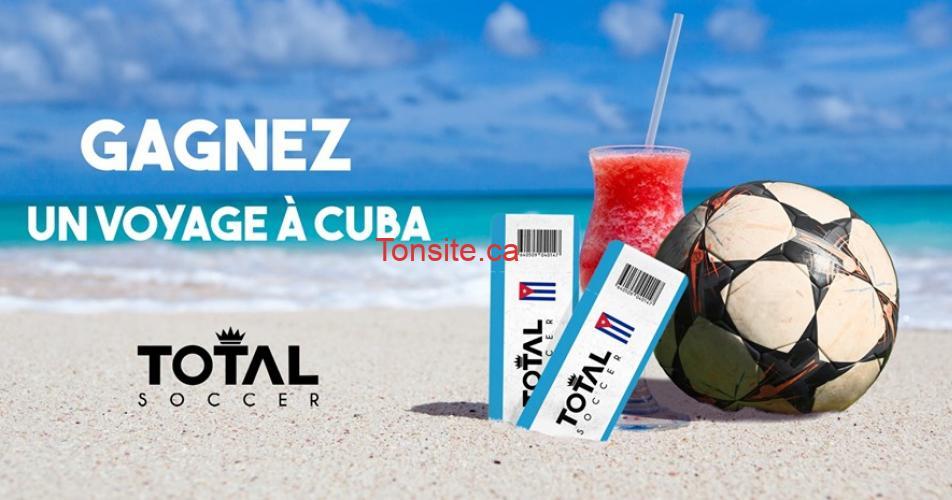 total concours1 - Participez et gagnez un voyage d'une semaine pour 2 à Cuba !