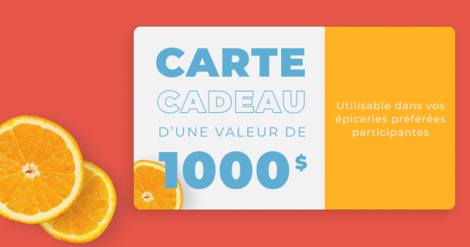 cc 1000 - 1000$ d'épicerie à gagner pour votre temps des fêtes