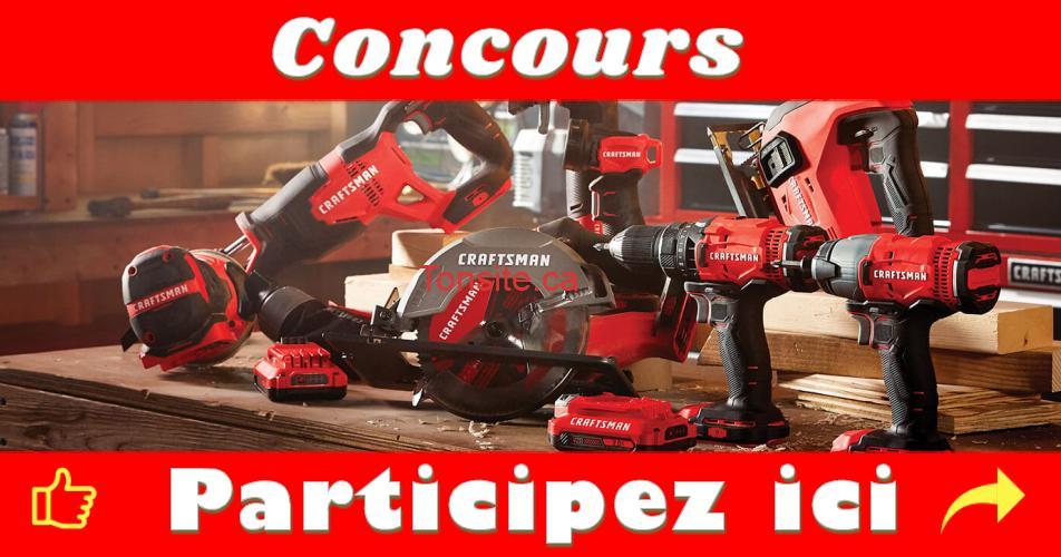 craftsman concours - Participez et gagnez 1800$ de produits Craftsman (2 gagnants)