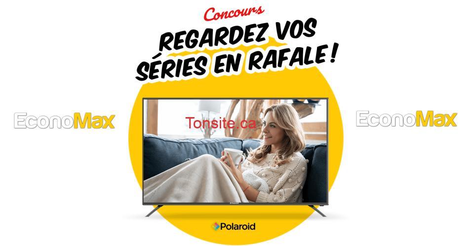 economax concours29 - Concours Economax: Gagnez un Téléviseur intelligent Polaroid 4K de 50 po