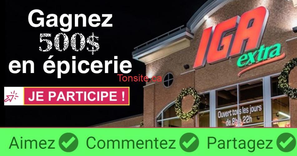 iga epicerie 500 - Gagnez 500$ pour votre épicerie de Noël chez IGA