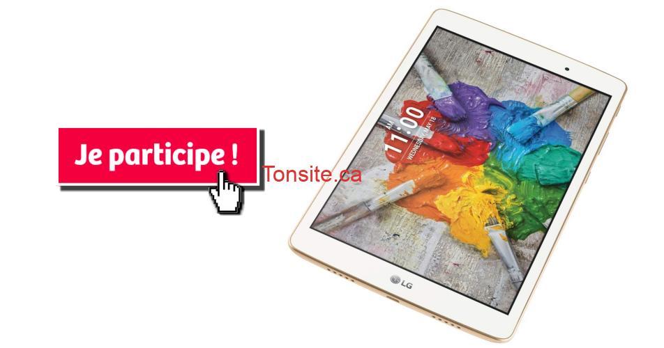 lg tablette concours - Gagnez une tablette neuve LG G PAD IV de 32GB avec LTE