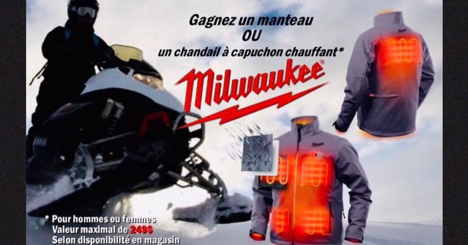 milwakee manteau - À gagner: un manteau ou un chandail à capuchon CHAUFFANT Milwaukee