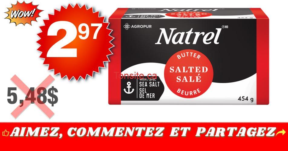 natrel 297 548 off - Beurre Natrel à 2,97$ au lieu de 5,48$