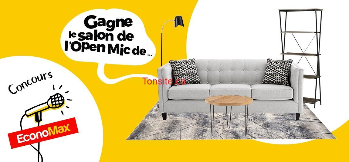 open mic salon concours - Gagnez un super salon d'une valeur de 1785$