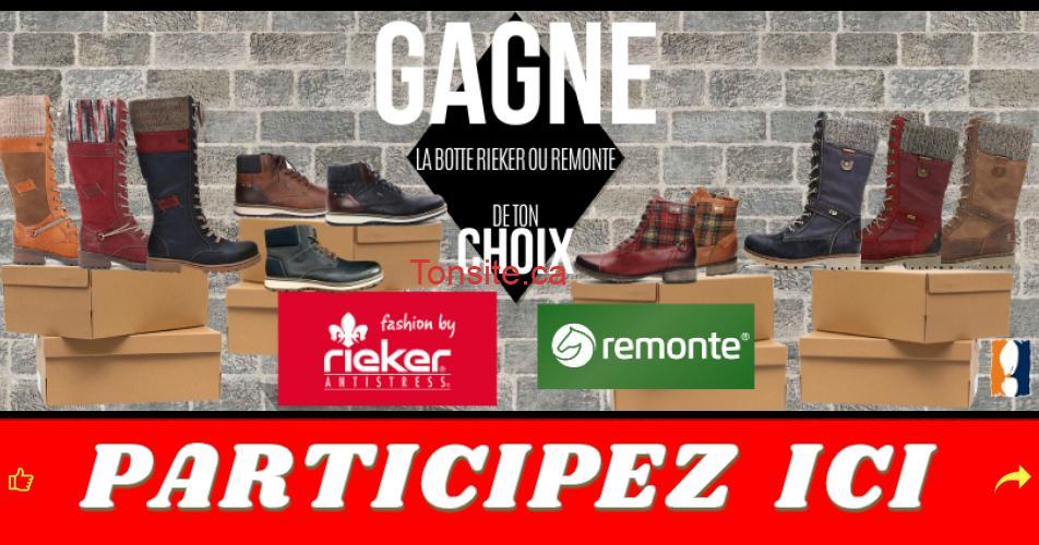 rieker remonte concours - Gagne la botte Rieker/Remonte de ton choix
