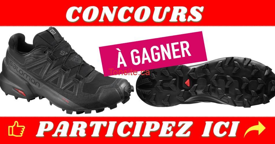salomon concours - Gagnez une paire de chaussures, la SPEEDCROSS 5 Gore-Tex de SALOMON