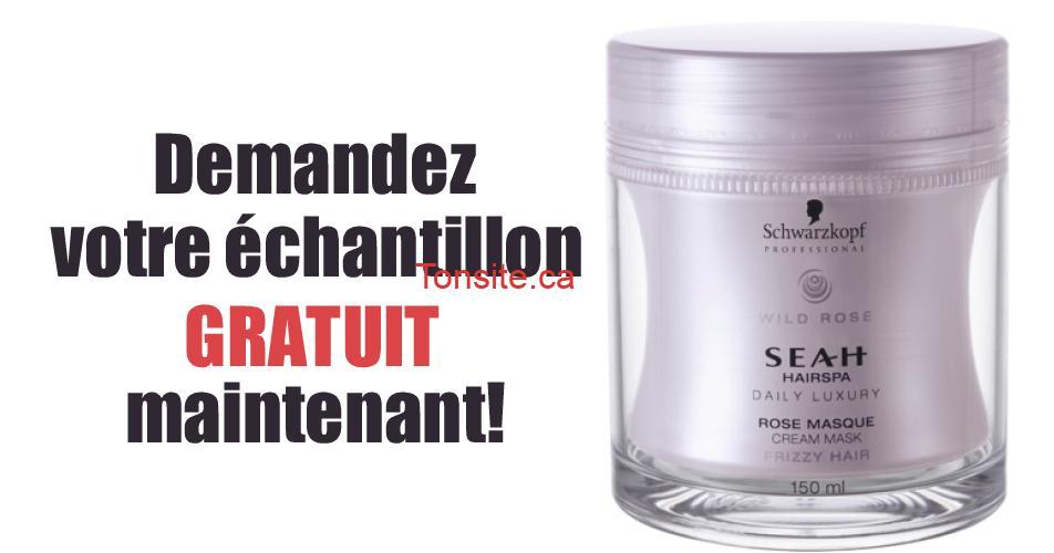 seah echantillon - Obtenez un échantillon gratuit de masque de crème de rose Schwarzkopf Seah Hairspa