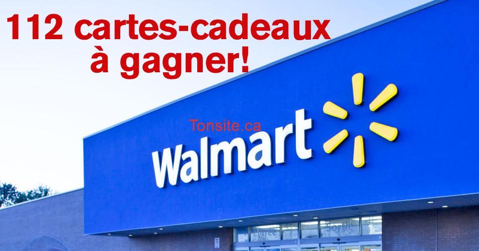 walmart 112 - Gagnez 1 des 112 cartes-cadeaux Walmart ou 1 crédit voyage de 3000$