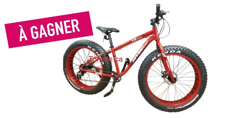 FATBIKE concours - Gagnez votre Fat Bike X8 Rumble Seven Peaks d'une valeur de 1000$