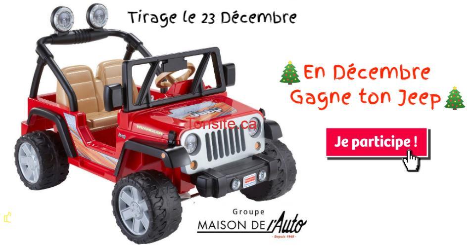 Jeep enfant concours - Gagnez ce Jeep électrique pour votre enfant