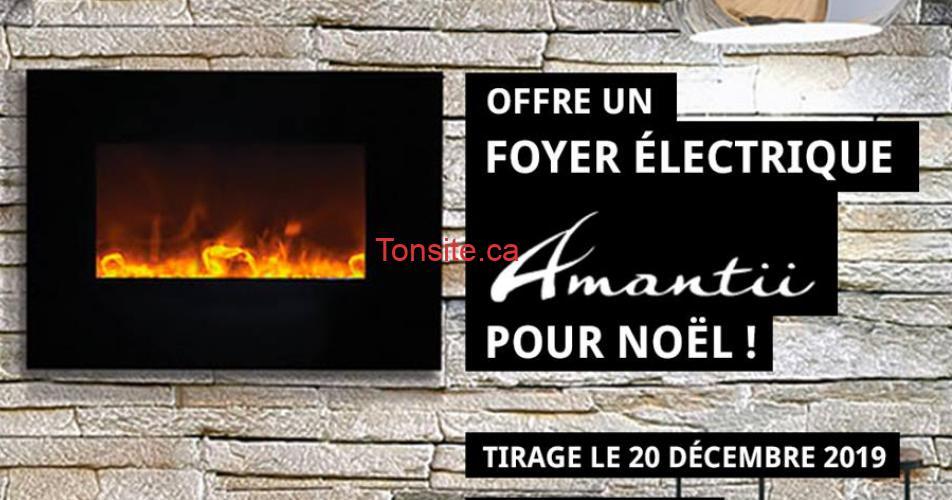 amantii concours - Gagnez un foyer électrique Amantii pour Noël 2019