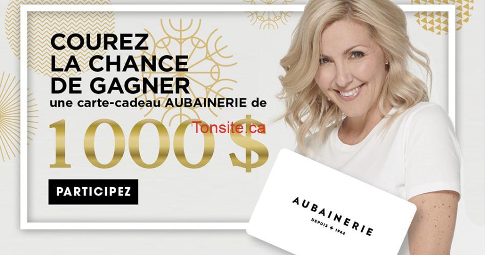 aubainerie 1000 - Gagnez une carte-cadeau Aubainerie de 1000$