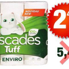 cascades essuie tout 249 549 240x240 - Emballage de 6 rouleaux Jumbo de papier essuie-tout Cascades Tuff à 2,49$ au lieu de 5,49$