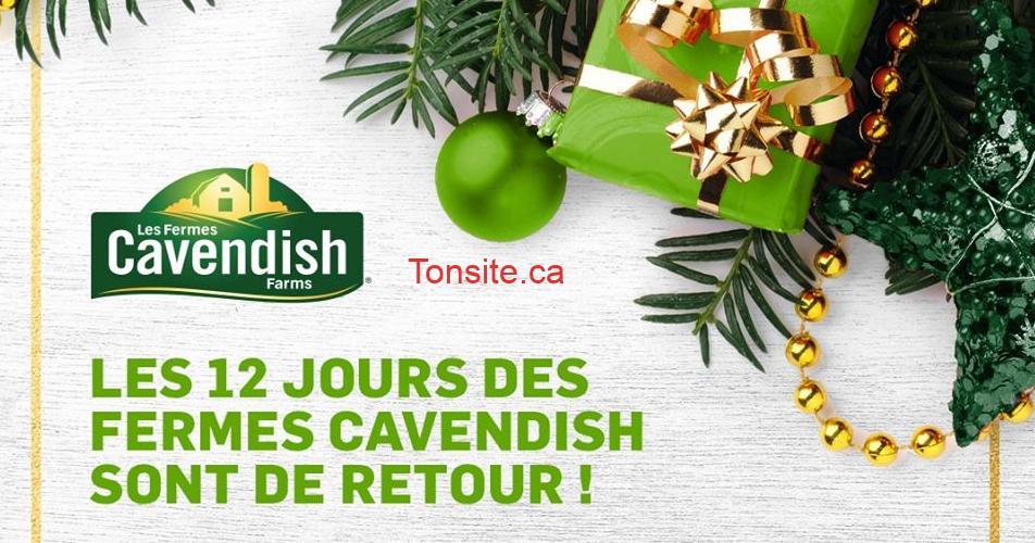 cavendish calendrier lavent - Concours Fermes Cavendish: 12 jours, 12 prix, 12 gagnants