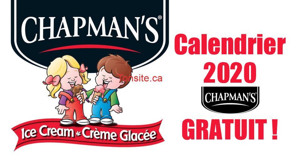 chapmans calendrier2020 - Obtenez votre calendrier Chapman's 2020 GRATUIT !