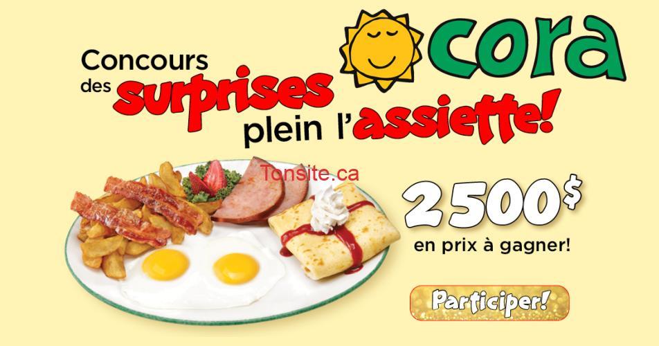 cora concours fetes - Concours Les Fêtes de Restaurant Cora: 2500$ en prix à gagner!