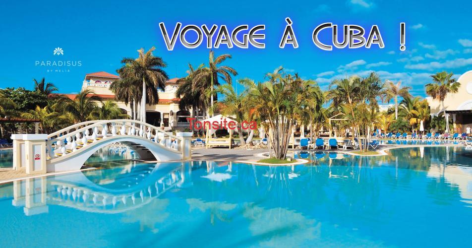 cuba concours off - Gagnez des vacances tout compris de 7 nuitées pour 2 personnes au Paradisus Princesa del Mar au Varadero, Cuba!