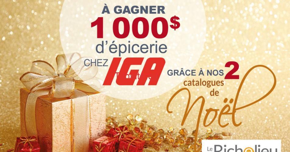 iga 1000 concours - Participez et gagnez 1000$ d'épicerie chez IGA
