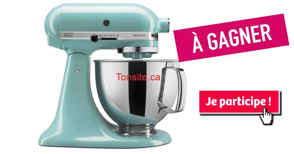 kitchenaid artisan - Participez et gagnez un mélangeur sur socle Artisan de KitchenAid