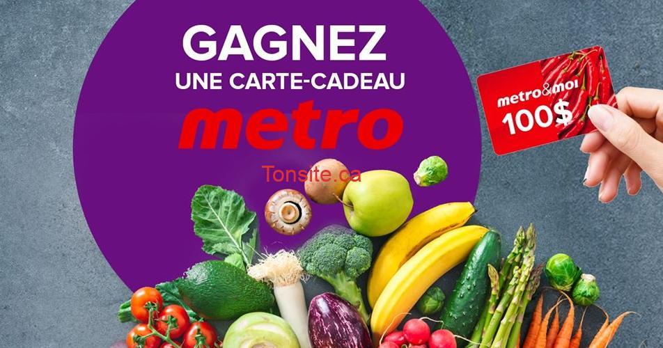 metro concours 100 - Participez et gagnez une carte-cadeau Metro de 100$