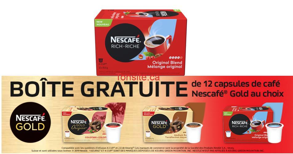 nescafe gratuit - Obtenez une boîte de 12 capsules de café Nescafé Gold au choix!