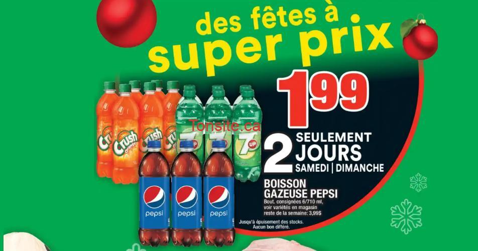 pepsi 7up crush 199 - Boissons gazeuses Pepsi, Crush ou 7up à 1,99$ au lieu de 5,49$