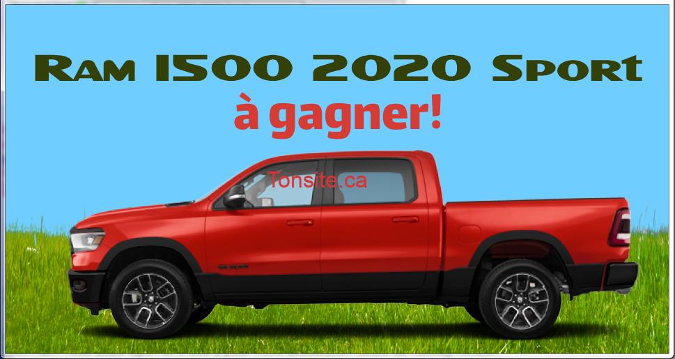 ram 1500 2020 - Participez et gagnez un Ram 1500 2020 et 5000$