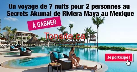 riviera maya concours9 - À GAGNER: Un voyage de 7 nuits pour 2 personnes au Secrets Akumal de Riviera Maya au Mexique