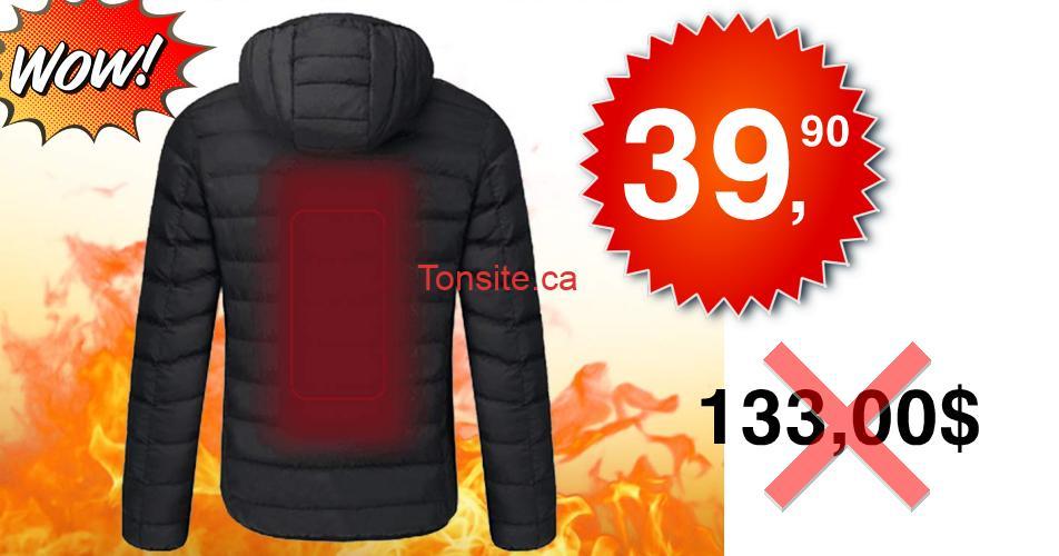 veste3990 - Obtenez une Veste chauffante électrique pour femmes ou hommes Lixada à 39,90$ au lieu de 133,00$