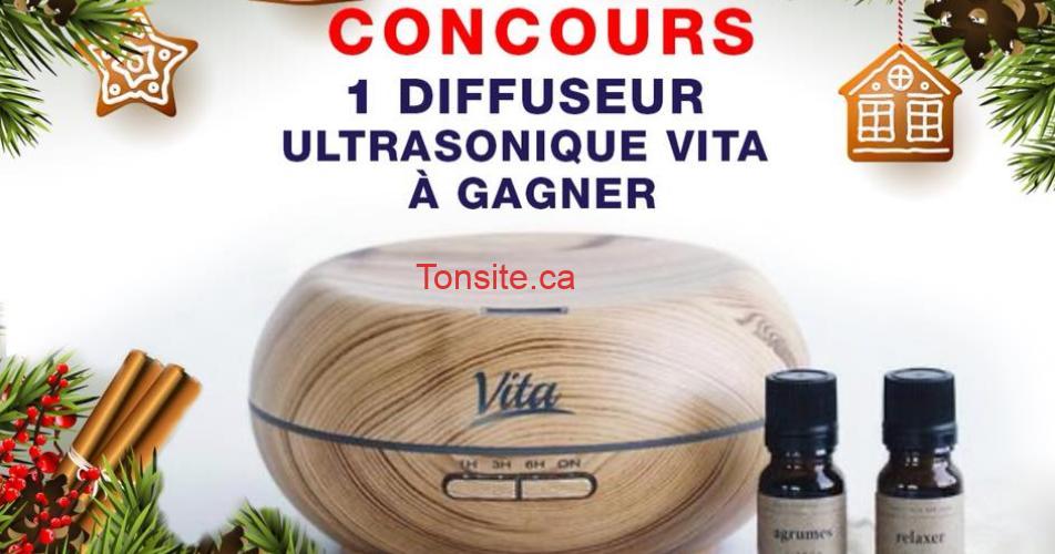 vita concours - Gagnez un diffuseur ultrasonique Vita