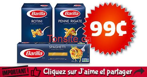 barilla 99 off - Pâtes alimentaires Barilla à 99¢ au lieu de 2,49$