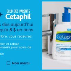 cetaphil coupons 240x240 - Clubs Cetaphil: Obtenez 8$ en coupons rabais sur les produits Cetaphil