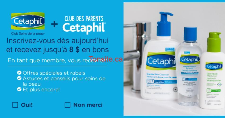 cetaphil coupons - Clubs Cetaphil: Obtenez 8$ en coupons rabais sur les produits Cetaphil