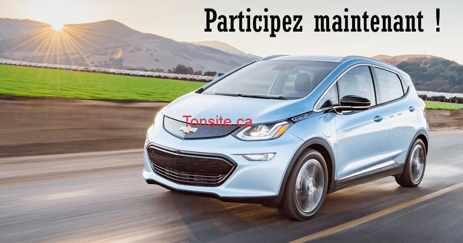 chevrolet bolt concours - Gagnez une location d'un an d'une Chevrolet Bolt