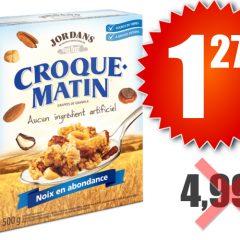 croque matin 127 499 240x240 - Boîte de céréales Croque Matin de Jordans (500 g) à 1,27$ au lieu de 4,99$