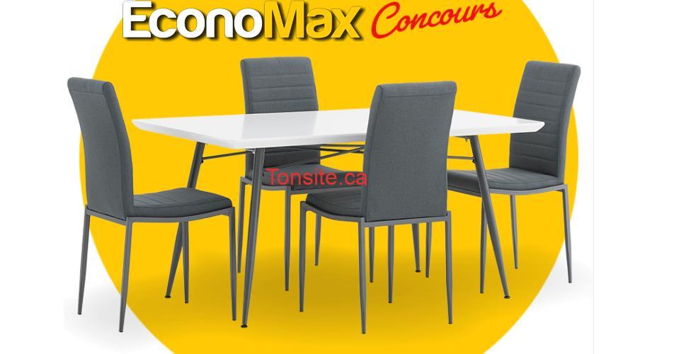 economax concours 20 1 - Concours Economax: Gagnez ce mobilier de cuisine 5 morceaux
