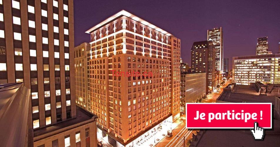embassy hotel concours - Gagne une nuitée dans une suite de luxe King à l'Hôtel Embassy Suites Montréal