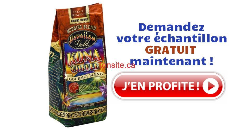 kona gratuit - Obtenez un échantillon gratuit du nouveau café Kona