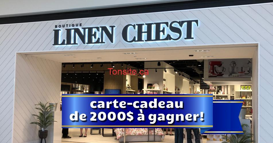 linen chest concours 2000 - Gagnez une carte cadeau Linen Chest de 2 000$