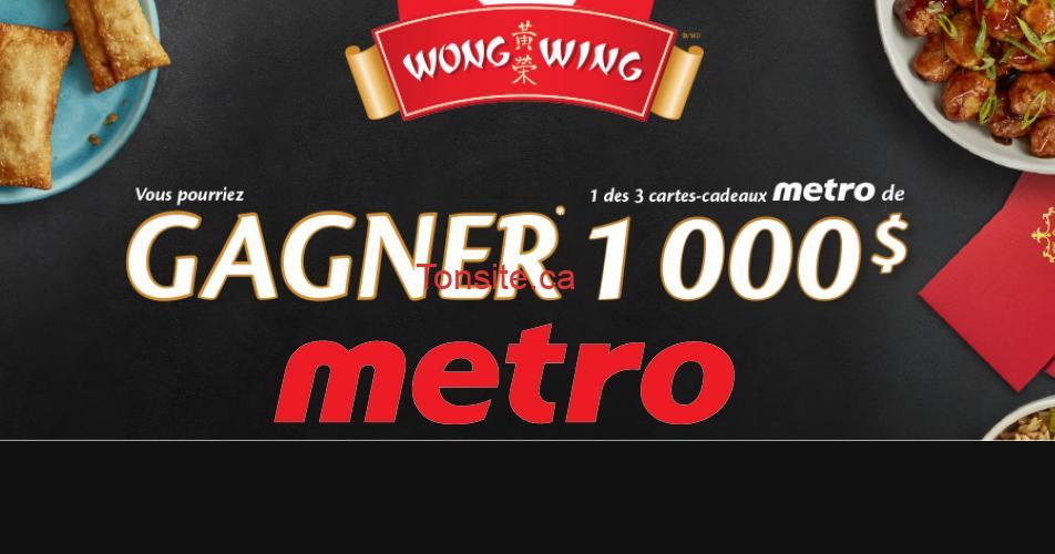 metro 1000 3 - Gagnez 1 des 3 cartes-cadeaux Metro de 1000$