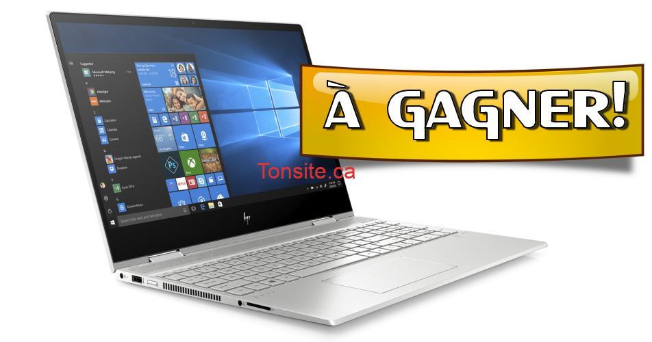 pc concours - Gagnez un ordinateur HP ENVY X360 d'une valeur de 1100$